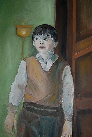 Boy in Corner   Kunstgemälde 2011-2014, 60x80cm