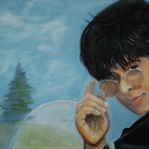 Dr. Sah Rukh Khan | Ölmalerei 2017, 60x40cm