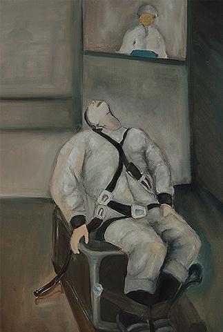 Gefangner Soldat   Kunstgemälde 2011-2014, 60x80cm