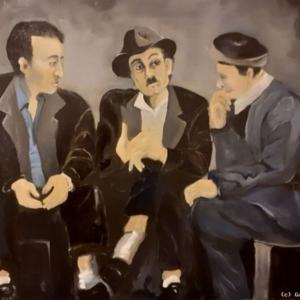Die Drei   Ölmalerei 2020, 60x80x2cm, Prize 750,-€